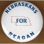 Reagan 29G  - Nebraskans For Reagan Campaign Button