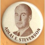 Stevenson 9B - Adlai E. Stevenson Campaign Button