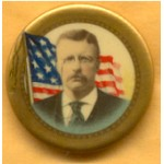 T.R. 1A - Theodore Roosevelt Campaign Button