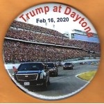 Trump 8Q - Trump at Daytona  Feb 16, 2020 Campaign Button