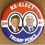 Trump 14D - Re- Elect Trump Pence 2020 Campaign Button