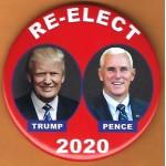 R2020 - 7B  Re- Elect Trump Pence 2020 Campaign Button