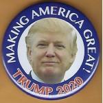 Trump 4Q - Making America Great! Trump 2020 Campaign Button